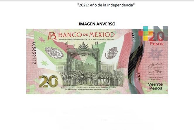 Banxico pone en circulación nuevo billete de 20 pesos, conmemorativo del Bicentenario de la Independencia