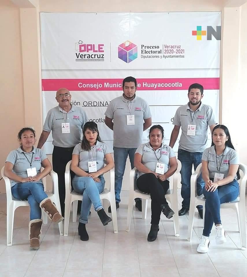 Consejo Municipal del OPLE Huayacocotla, concluye sus actividades del periodo 2020-2021
