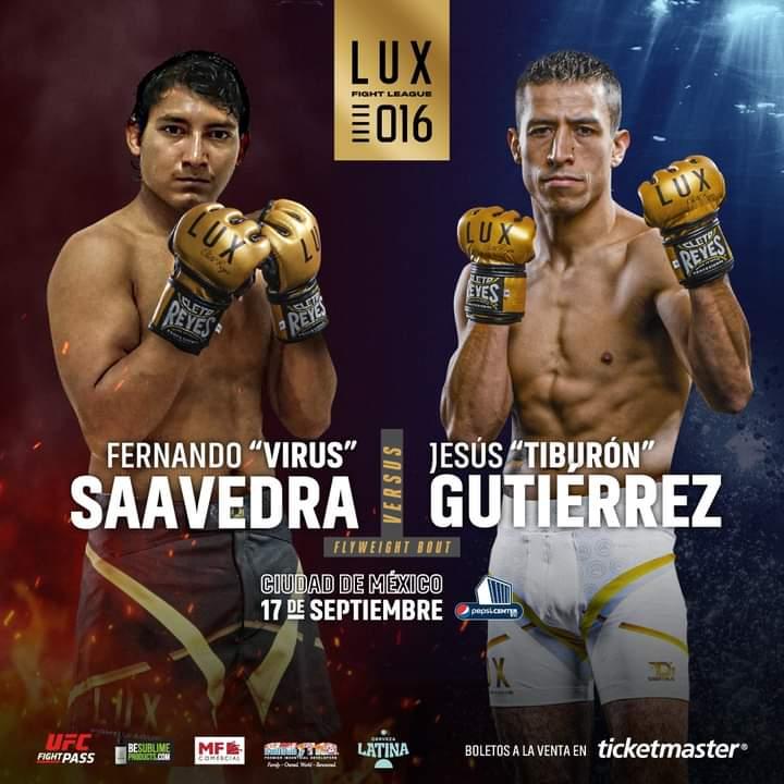 «Virus» Saavedra enfrentará al «Tiburón» Gutiérrez en LUX Fight League