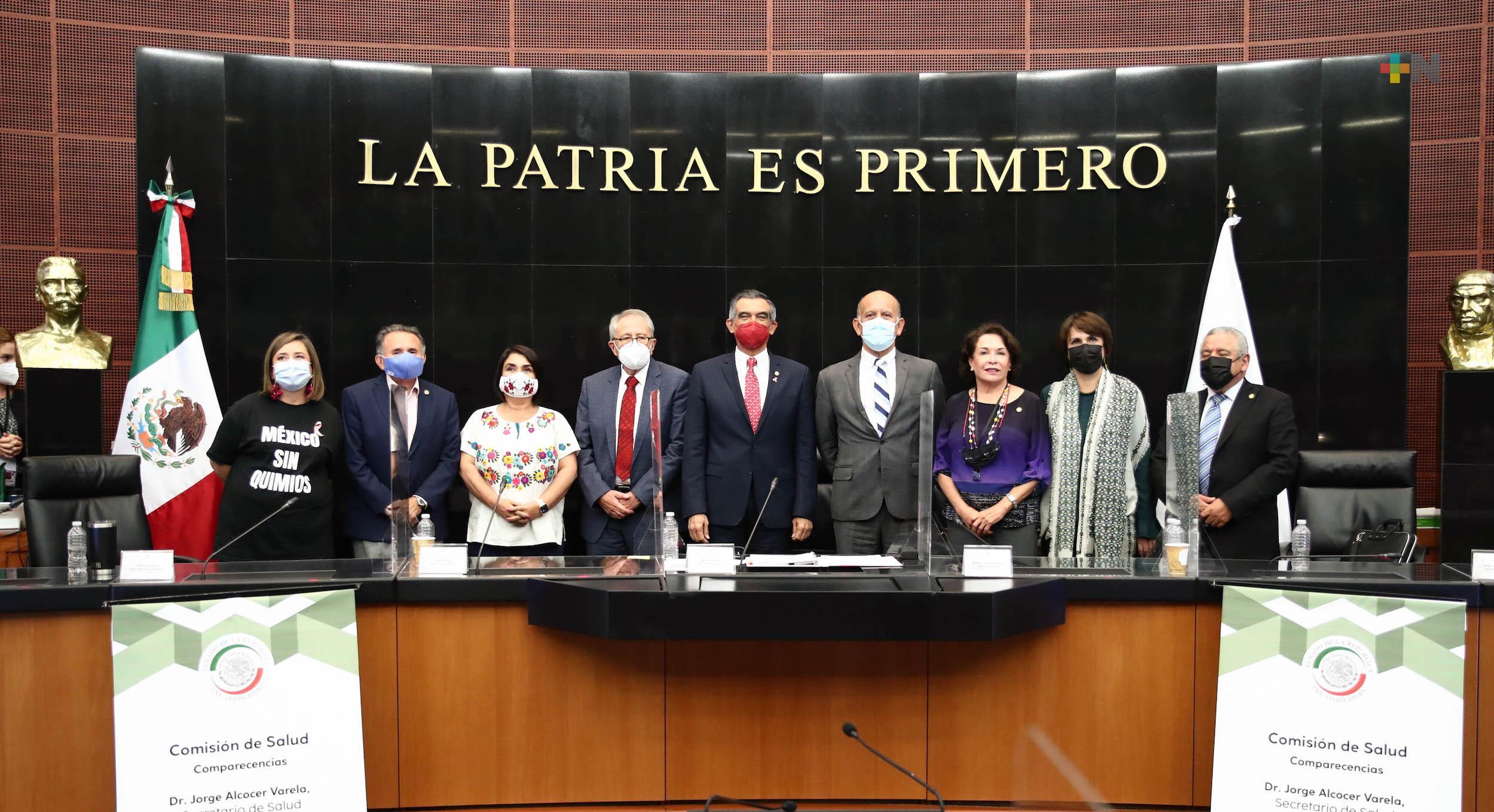Van 11 semanas consecutivas de descenso de la pandemia, informa al Senado Jorge Alcocer