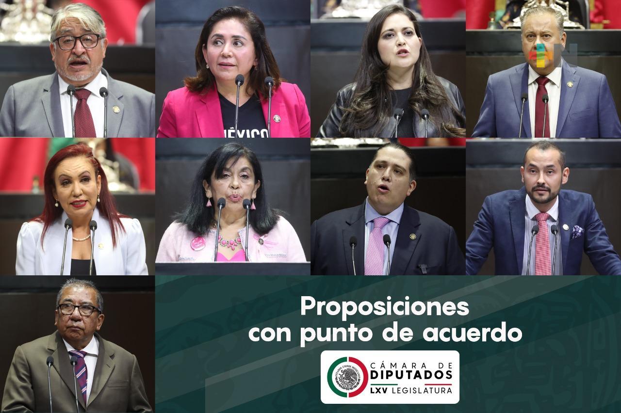Turnan a comisiones de la Cámara de Diputados nueve puntos de acuerdo