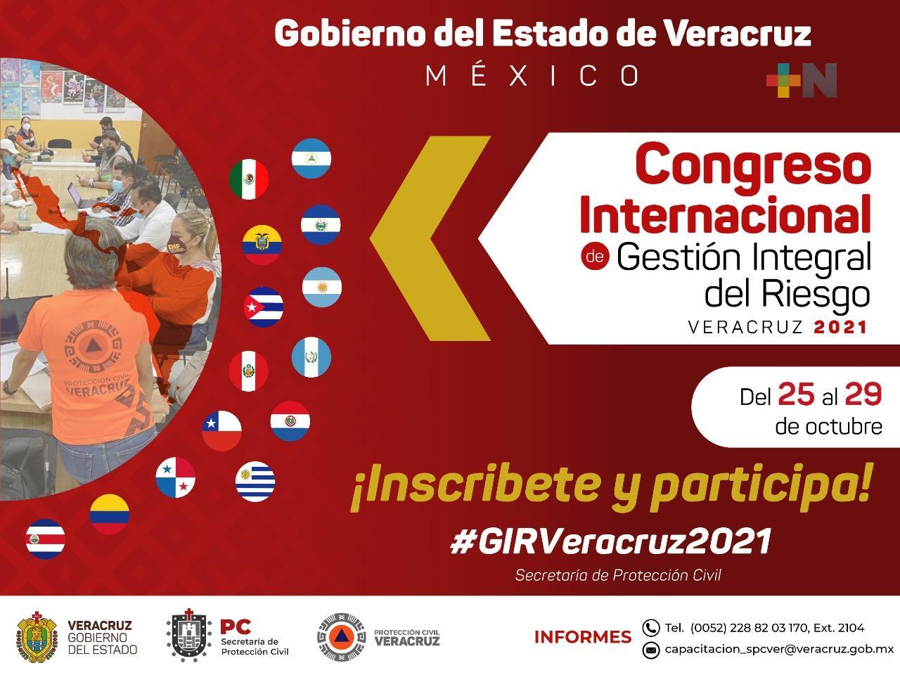 Veracruz sede del Congreso Internacional de Gestión Integral de Riesgo 2021