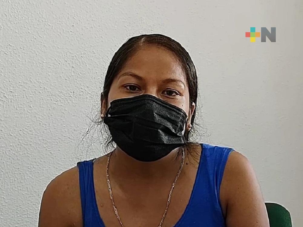 Agradece al IMSS del sur de Veracruz por haberla salvado al tener complicaciones en su embarazo