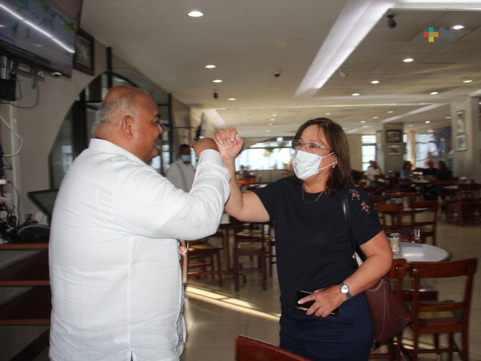 Trabajan Rocío Nahle y Eric Cisneros por el desarrollo de Veracruz