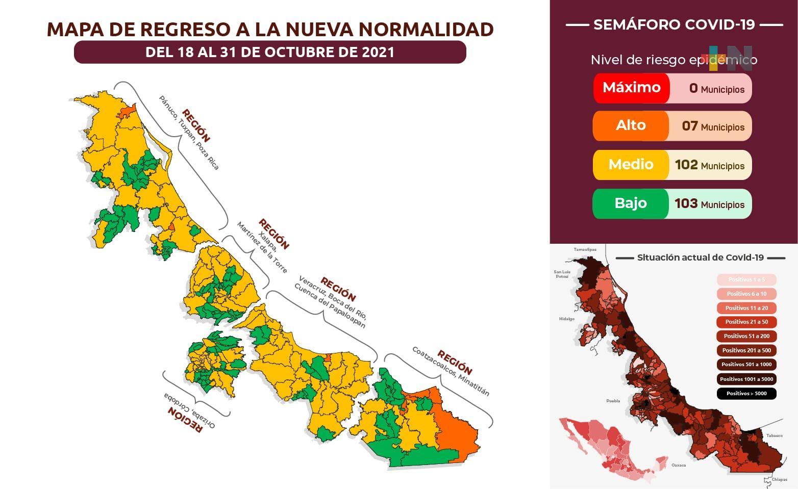 Reportan 201 nuevos casos de Covid-19 en Veracruz