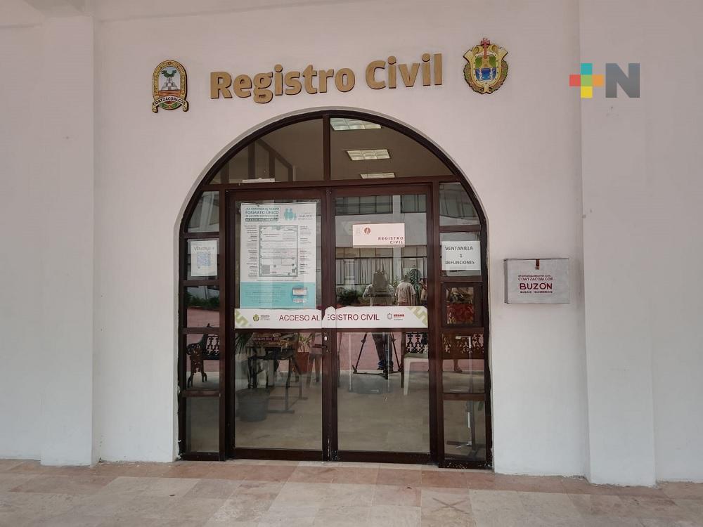 Se duplicaron solicitudes de trámites en Registro Civil de Coatzacoalcos