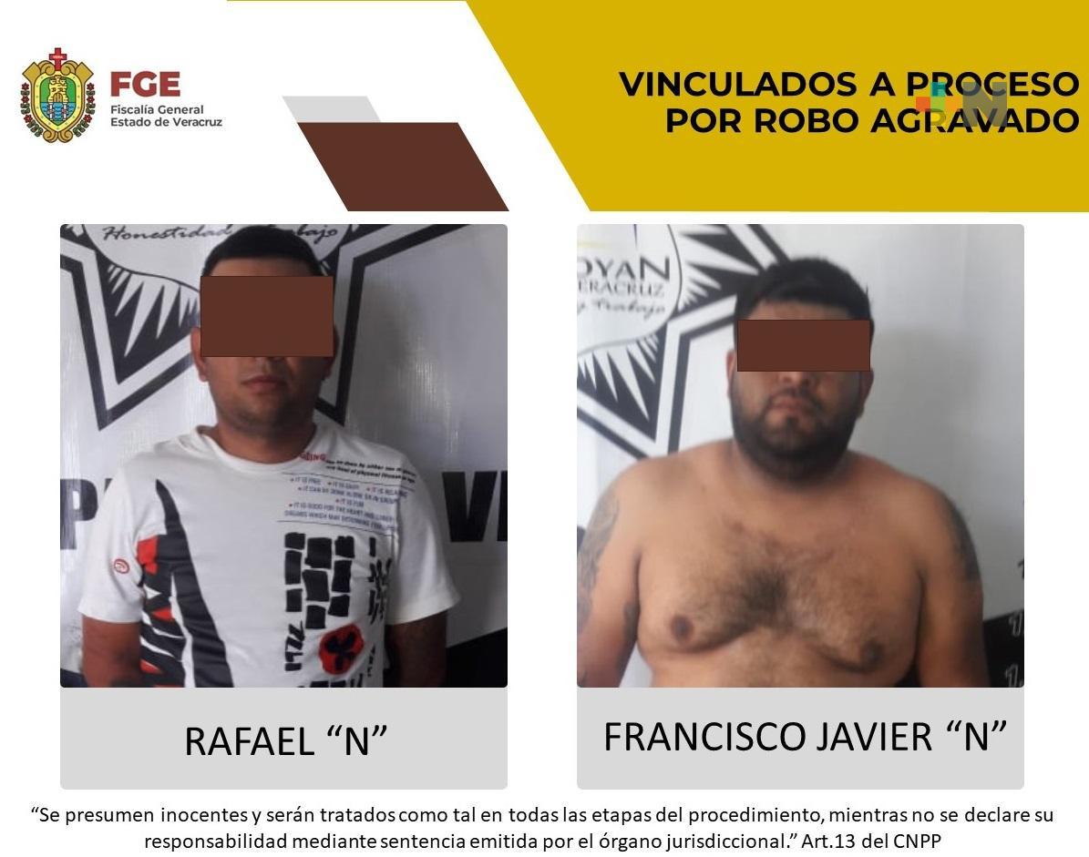 Proceden dos vinculaciones a proceso por robo en Tlapacoyan