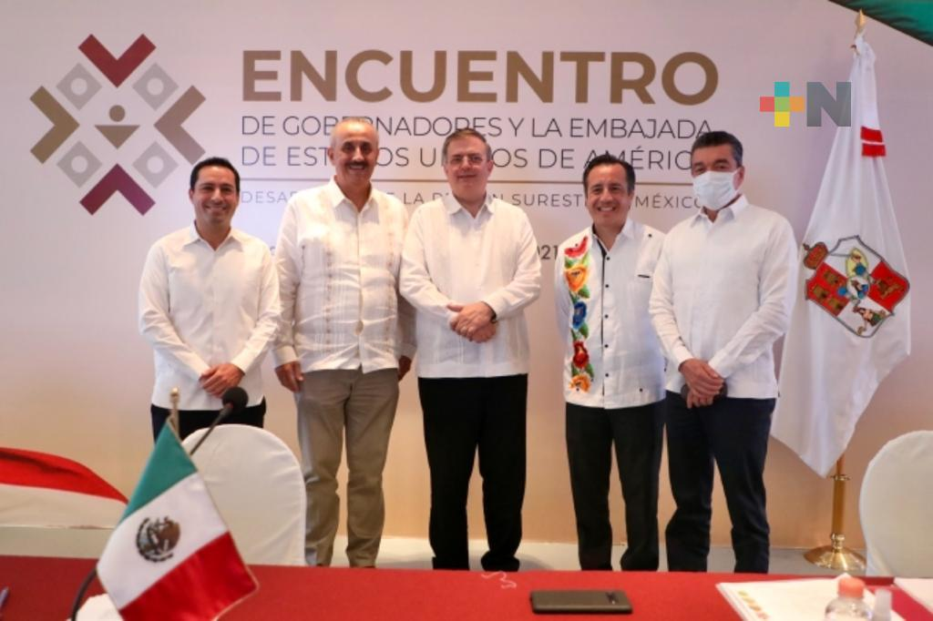 Cuitláhuac García participó en el Encuentro de Gobernadores y la Embajada de Estados Unidos