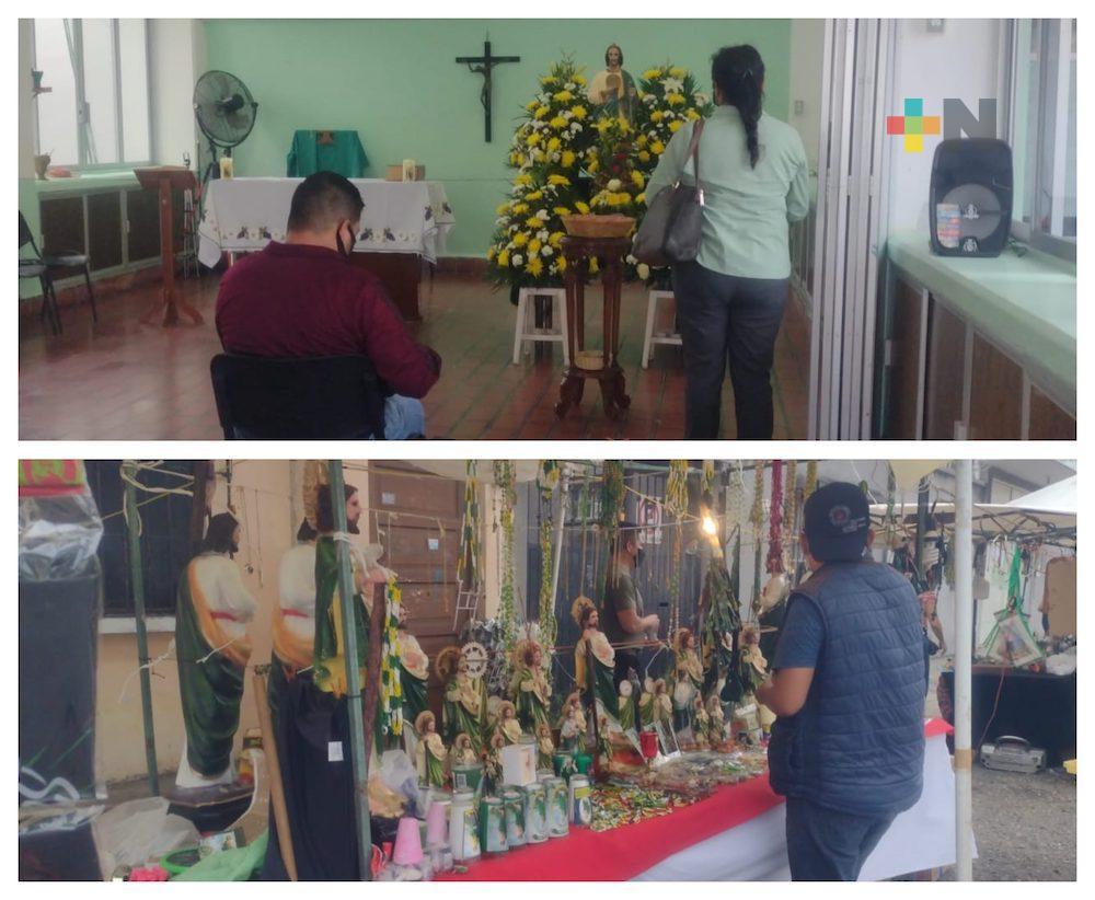Reanudan celebración de San Judas Tadeo en Colegio Lope de Vega, en Veracruz