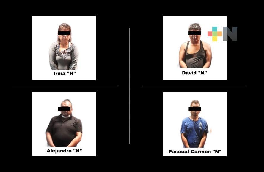 Captura SSP a cuatro personas por posesión ilegal de armas, en Poza Rica