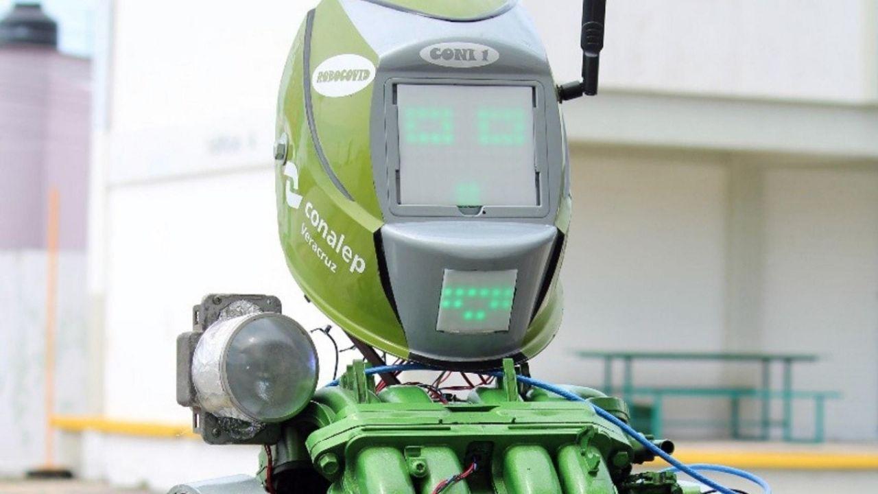 Crean en el Conalep un robot que ayuda a prevenir el Covid-19
