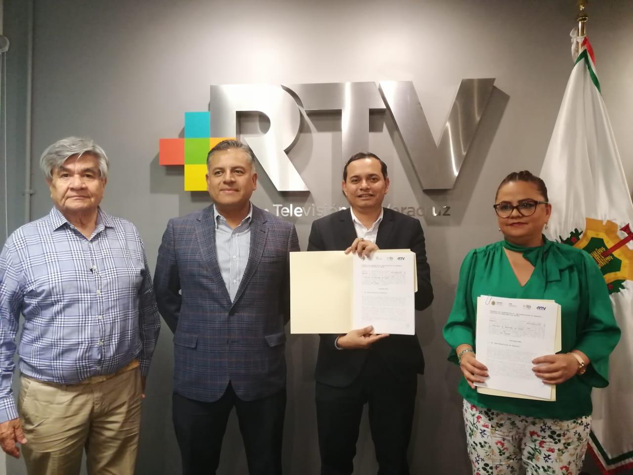Convenio Radiotelevisión de Veracruz y el Instituto de Pensiones del Estado